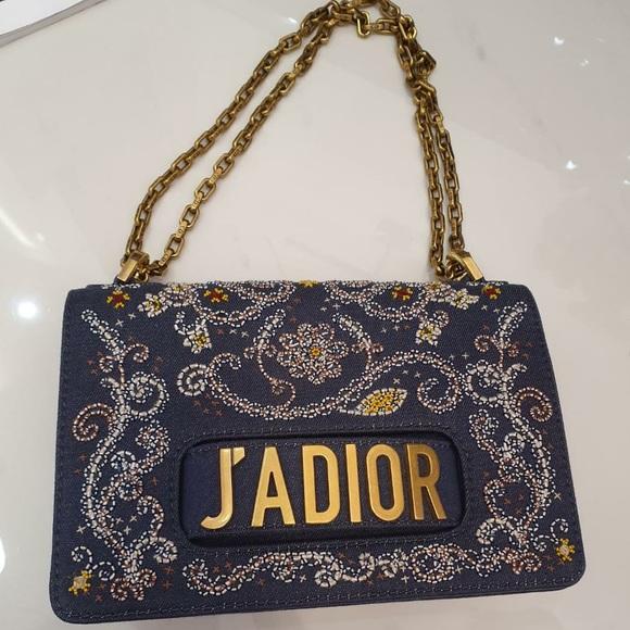 Dior Handbags - Dior jadior denim crossbody medium bag